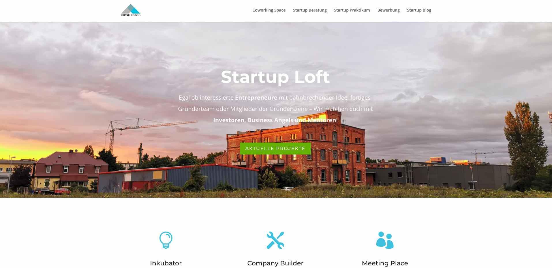 screenshot startup loft